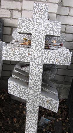 фото Памятник из мраморной крошки.