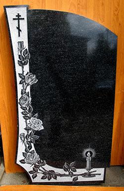 Фото Свеча, ветвь розы, и православный крест.