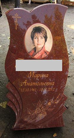 фото памятник из цветного гранита в Воронеже (примеры работ мастерской акрополь).